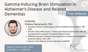 WEBINAR NE - Gamma-Inducing Brain Stimulation in Alzheimer's Disease and Related Dementias